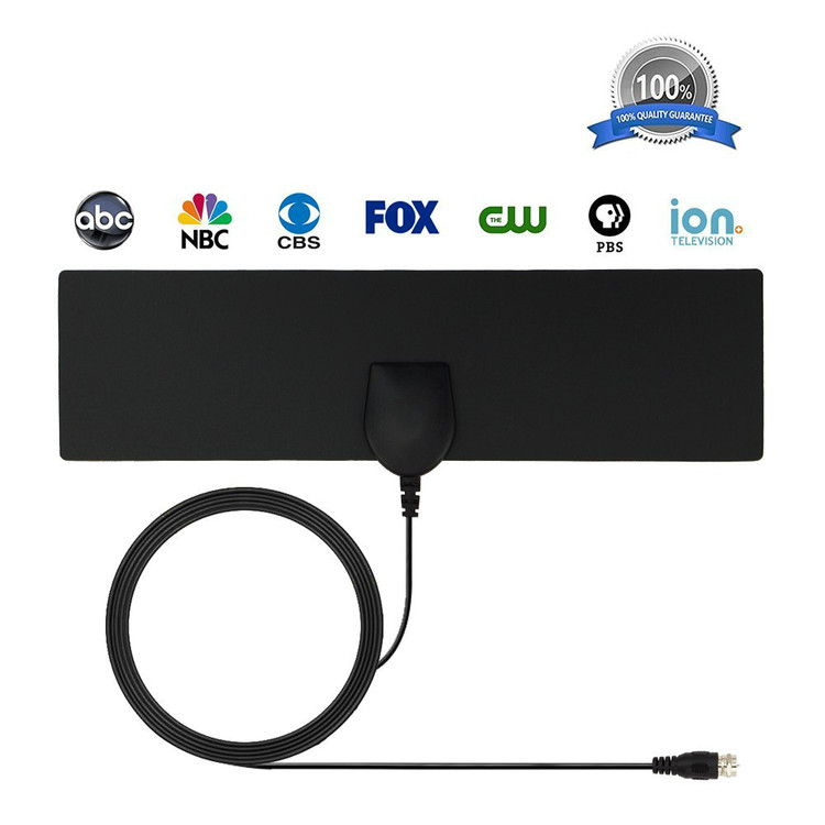 HDTV Antenna and Amplifier for digital TV indoor, 50+ miles range with Detachable Signal Amplifier Booster for 1080P High Reception, Aluminum foil antenna, Updated Version Better Reception of Signal