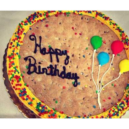 Happy Birthday Cookie Cake -  Chocolate Chip - Halloween Decorated Cookie Cakes