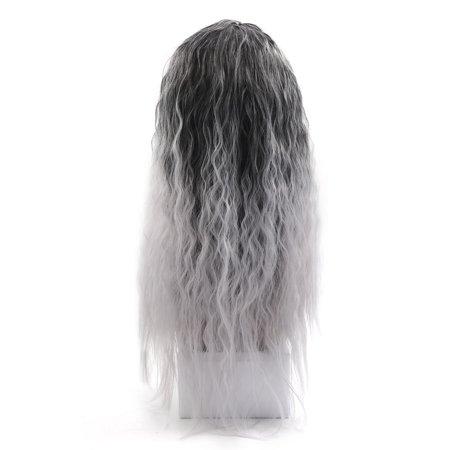 "25.2"" Length Synthetic Brazilian Women Loose Wavy Hair Extension Wigs Light Gray - image 2 de 5"