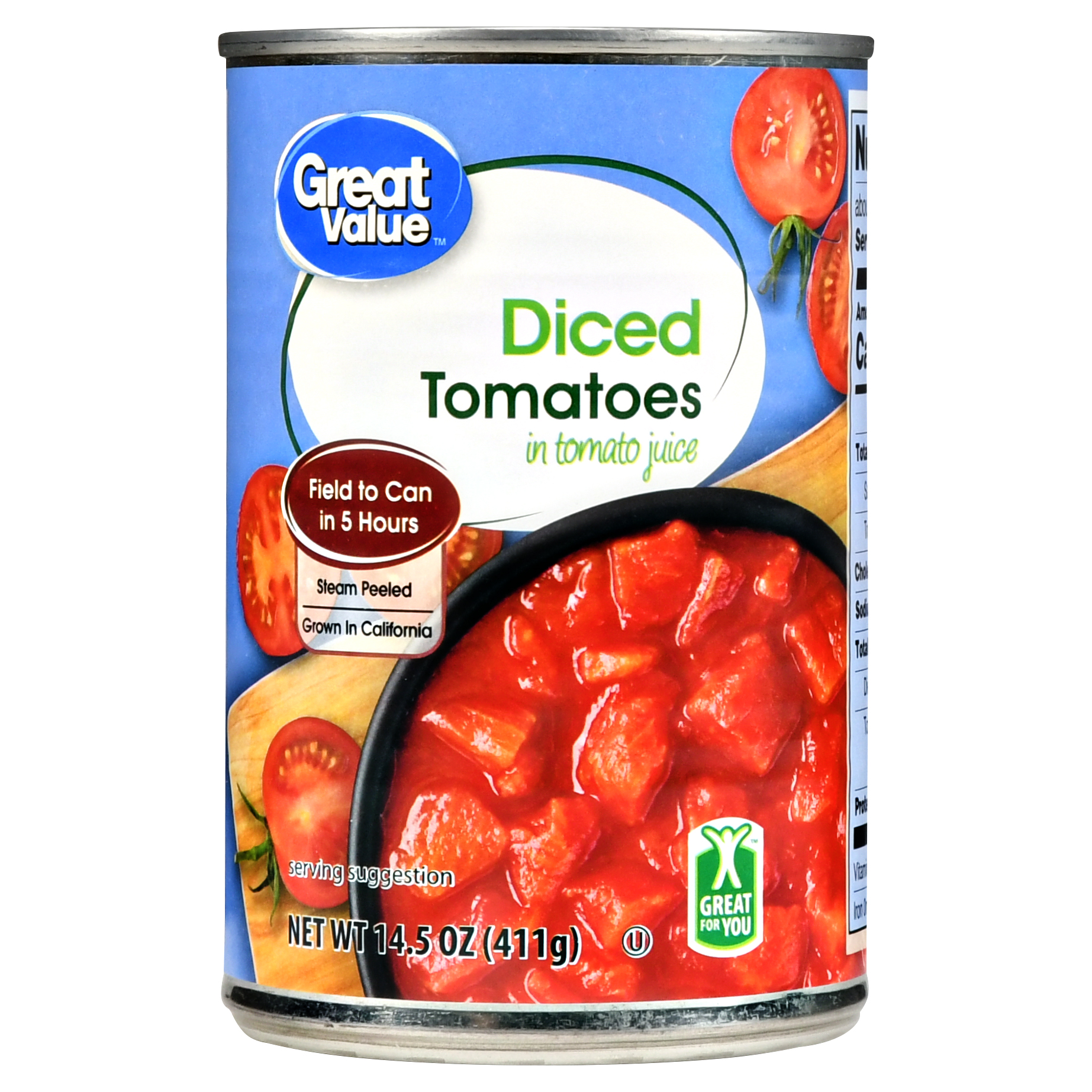 Great Value Diced Tomatoes In Tomato Juice, 14.5 Oz by Wal-Mart Stores, Inc.