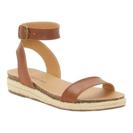 Women's Lucky Brand Garston Ankle Strap Sandal Ankle Strap Leather Wedges
