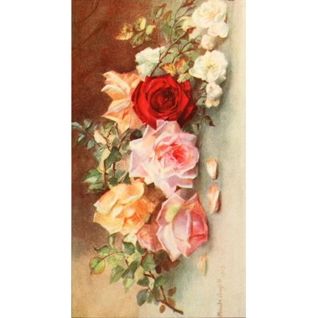 Flower Pictures 1914 Roses Poster Print by  Maude (1914 Poster Print)