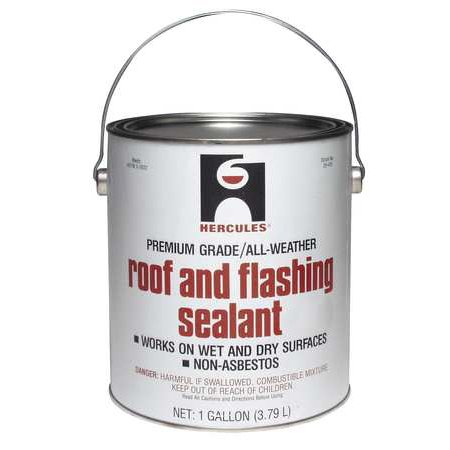 Hercules 25410 Black Roof and Flashing Sealant, 1 Gal
