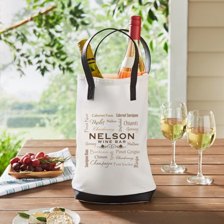 Personalized Wine Talk Two-Bottle Wine Tote (Personalized Wine Tote)