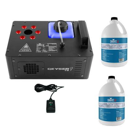 Chauvet DJ Geyser T6 Smoke Fog Machine & LED Light Effect w/ 2 Gallons Fog Fluid - Smoke Machine Walmart
