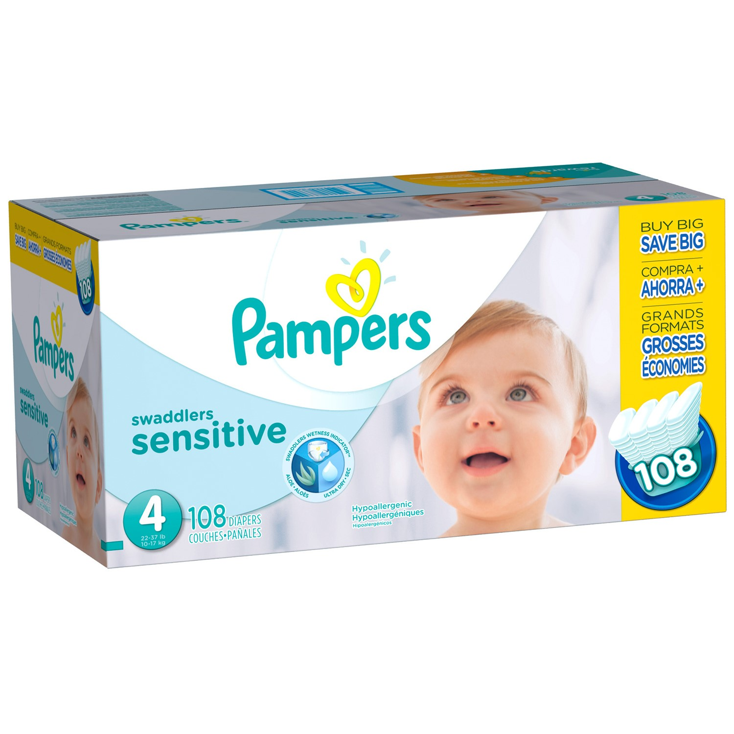 Pampers Swaddlers Sensitive Diapers, Super Economy Pack