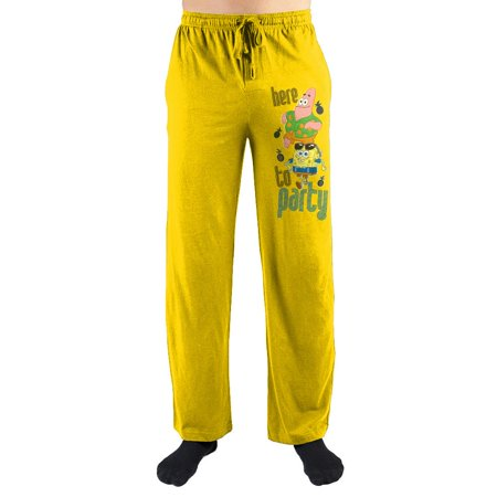 "SpongeBob SquarePants ""Here To Party"" Sleep Pants-X-Large](Spongebob Robe)"