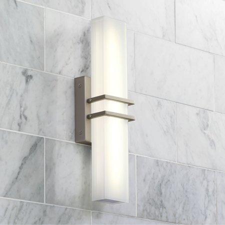 Possini Euro Design Possini Euro Exeter 17 High Nickel Led Bathroom Light