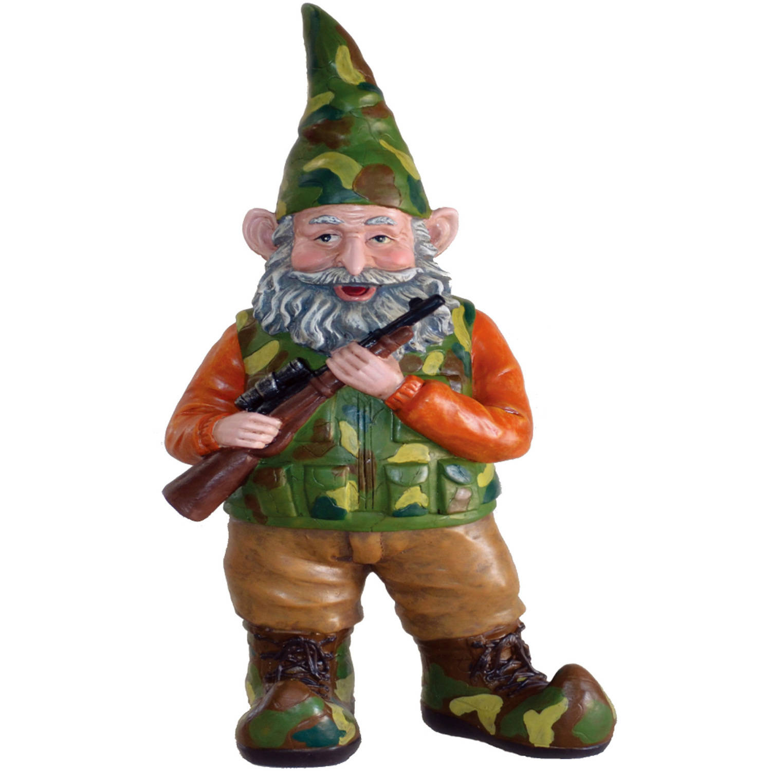 """Nowaday Gnomes """"Hunter the Gnome"""" Garden Gnome Hunter Holding His Hunting Rifle... by GSIHomeStyles"""