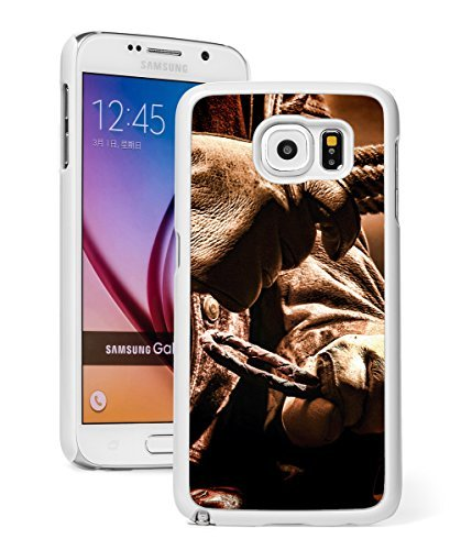 Samsung Galaxy Note 5 Hard Back Case Cover Rodeo Cowboy Hands with Gloves Rope (White)