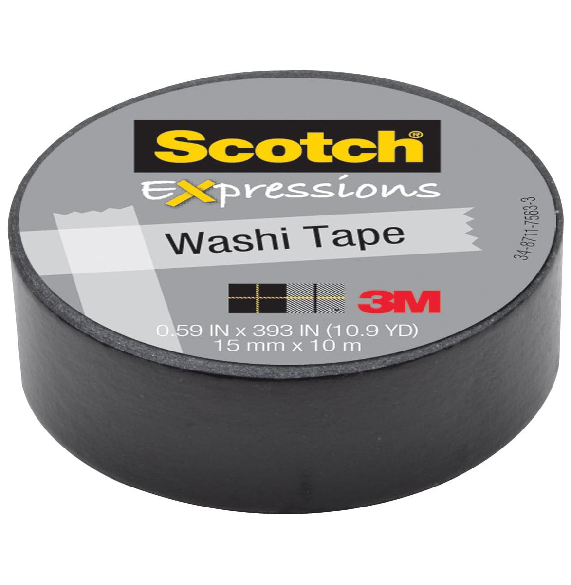 "Scotch Washi Tape .59""X10.9yd Black"