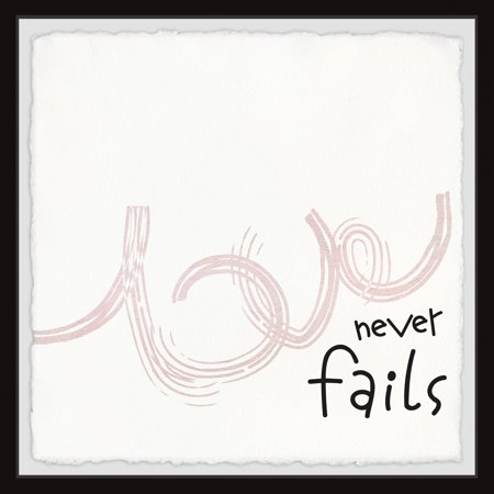 Marmont Hill Love Never Fails V Framed Wall Art