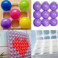 "New Balloon Square 9 Grid Modeling Party Balloons Grids Wall Wedding Decoration 30x30cm 11.8""x11.8"" Fits for 5 inch Latex Balloons each Grids"