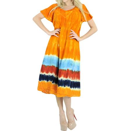 2ac4bf945cf7 HAPPY BAY - Bohemian Beach Wear Rayon Embroidered Tie Dye Long Cover Up Summer  Kaftan Beach Shirt Smock Sun Dress for Women Multicolor L598 - Walmart.com