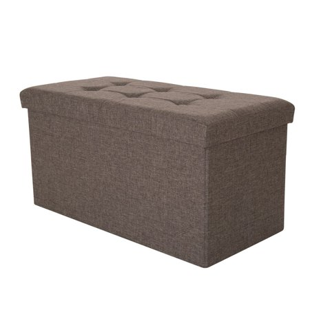 Incredible Glitzhome Foldable Pvc Storage Ottoman Bench With Padded Pabps2019 Chair Design Images Pabps2019Com