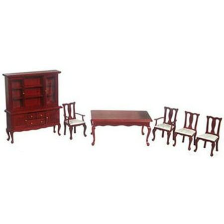 Dollhouse Elegant Mahogany Dining Room Set