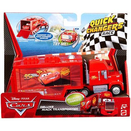 Disney Cars Quick Changers Race Deluxe Mack Transporter Diecast Car