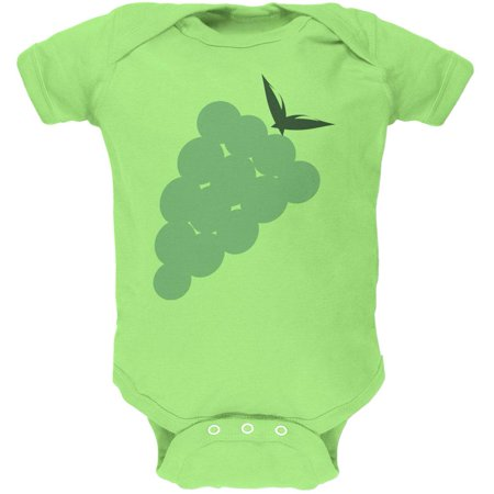 Halloween Green Grape Costume Soft Baby One Piece - Grape Costumes