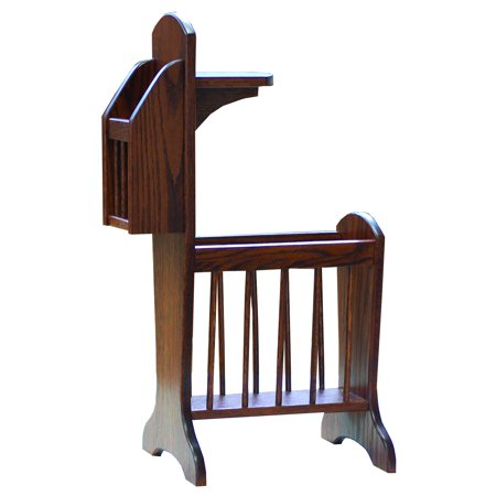 Furniture Barn USA™ Oak Sofa Side Stand with Storage and Small Table ()