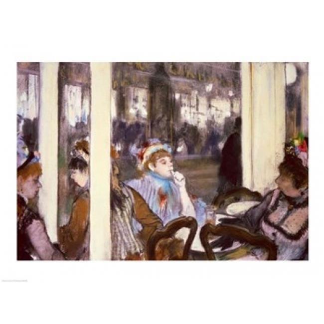 Posterazzi BALXIR35968LARGE Women on A Cafe Terrace 1877 Poster Print by Edgar Degas - 36 x 24 in. - Large - image 1 de 1