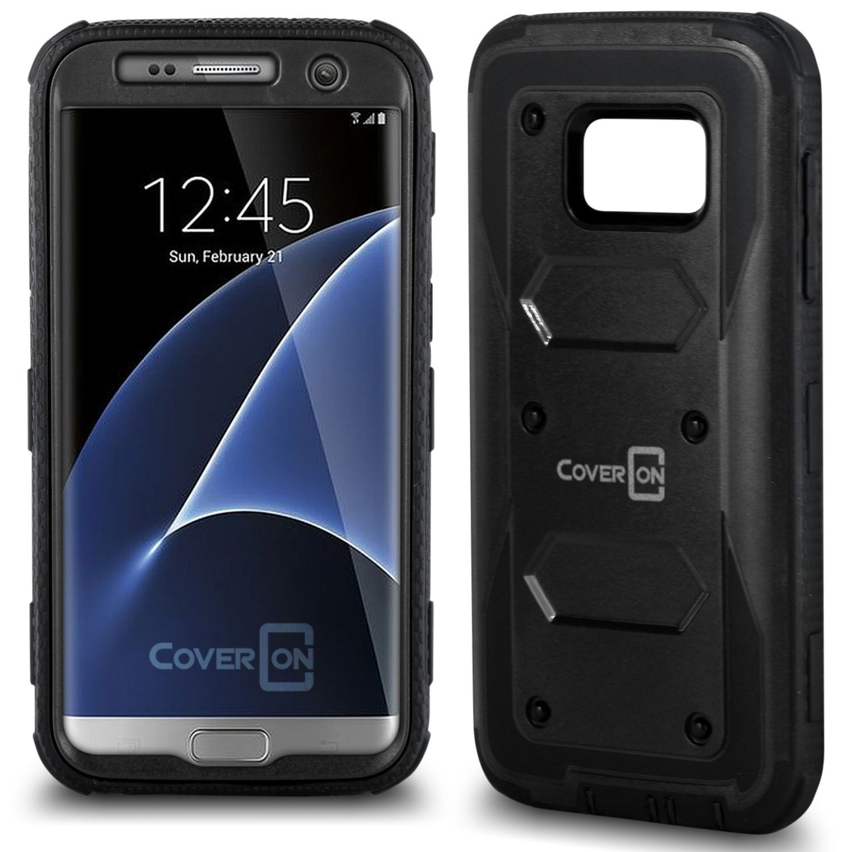 CoverON Samsung Galaxy S7 Case, Tank Series Hard Protective Armor Phone Cover