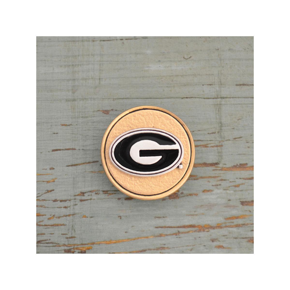 On The Button-University Of Georgia Bulldogs Gold Button Charm