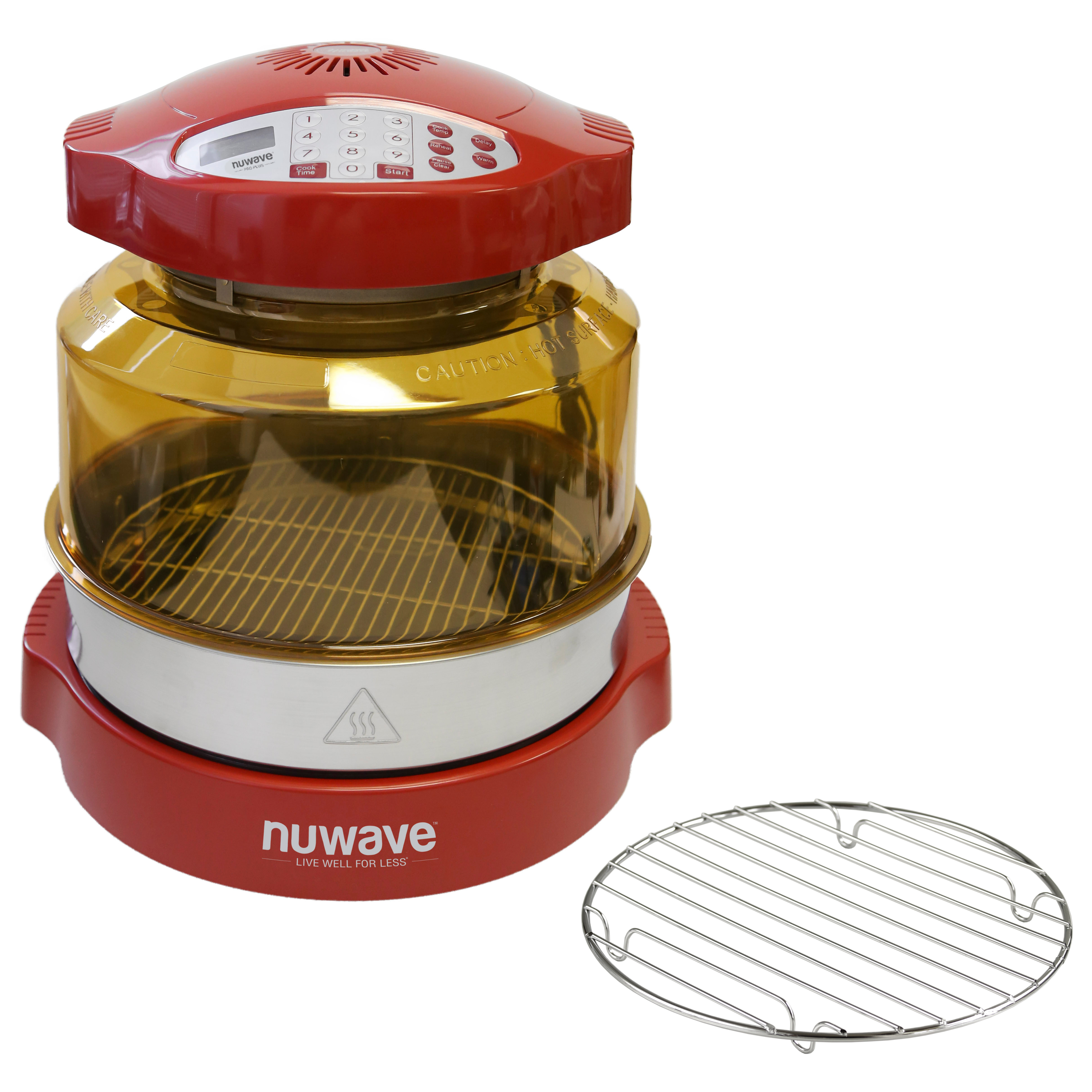Nu-Wave Oven Red Pro Plus with Stainless Steel Extender R...