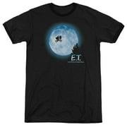 Et Moon Scene Mens Adult Heather Ringer Shirt