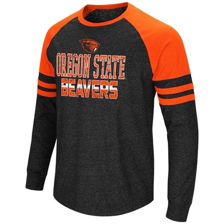 - Oregon State Beavers Long Sleeve Shirt Hybrid Raglan Tee