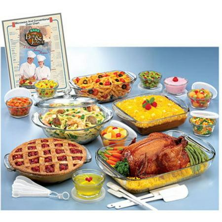 Anchor Hocking Glass Ovenware 34-piece Set