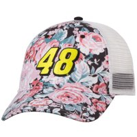 Jimmie Johnson Women's Floral Adjustable Trucker Hat - Royal - OSFA