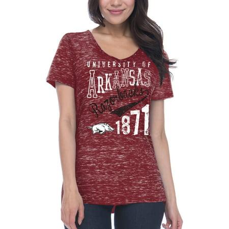 - NCAA Arkansas Razorbacks Women's Junior Fit Short Sleeve V Neck T-shirt