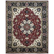 Due Process Stable Trading Company Mogul Hand-Tufted Burgundy/Blue Area Rug