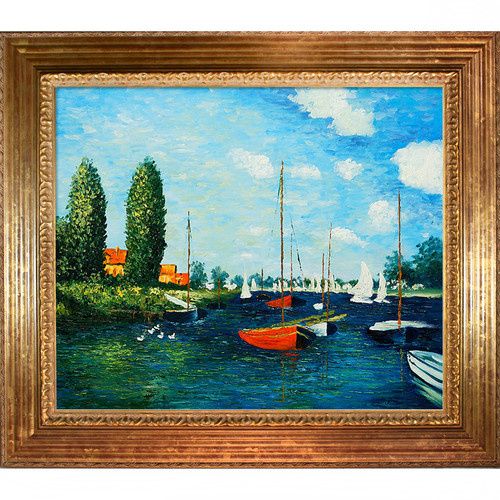 Tori Home Argenteuil by Claude Monet Framed Original Painting