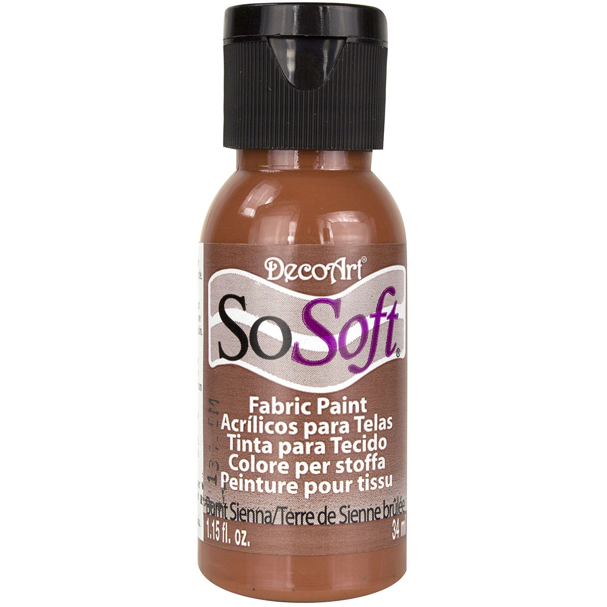 SoSoft Fabric Acrylic Paint 1oz-Burnt Sienna