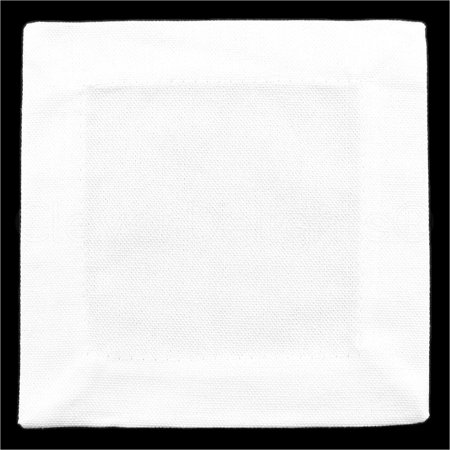 6 Pack - CleverDelights White Cocktail Napkins - 100% Cotton Canvas - 6