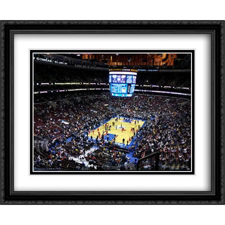 Wells Fargo Center 2X Matted 34X28 Large Black Ornate Framed Art Print From The Stadium Series