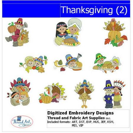 - Threadart Machine Embroidery Designs Thanksgiving(2) CD