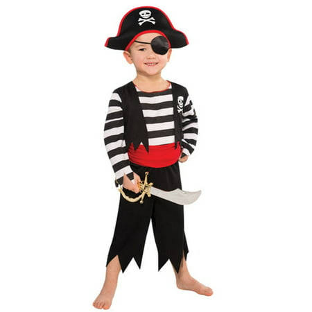 Rascal Pirate Buccaneer Costume Child Boys 4 - 6 Small](Black Ninja Costume)