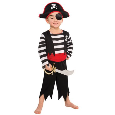 Rascal Pirate Buccaneer Costume Child Boys 4 - 6 Small - Scariest Kids Costumes