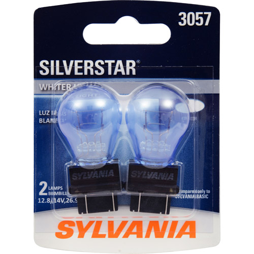 Sylvania 3057 SilverStar Miniature Bulb, Contains 2 Bulbs