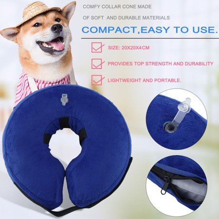 Pet collars for small/medium/Large dogs & Cats Inflatable E-Collar Anti-bite Recovery Wound Protective Collar