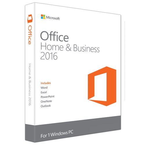 Microsoft Office Home and Business 2016 (PC Key Card) by Microsoft