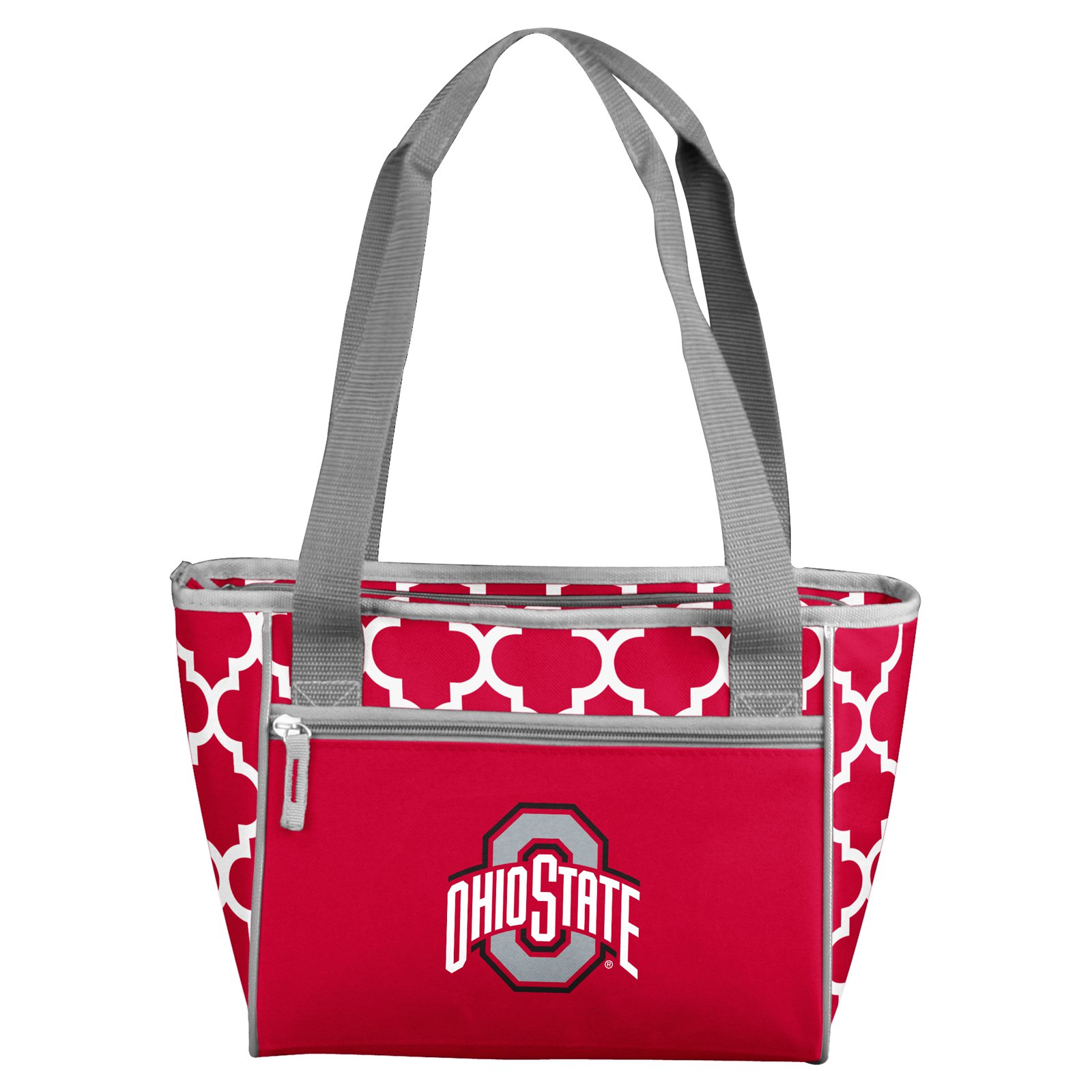 Ohio State Buckeyes Quatrefoil 16 Can Cooler Tote