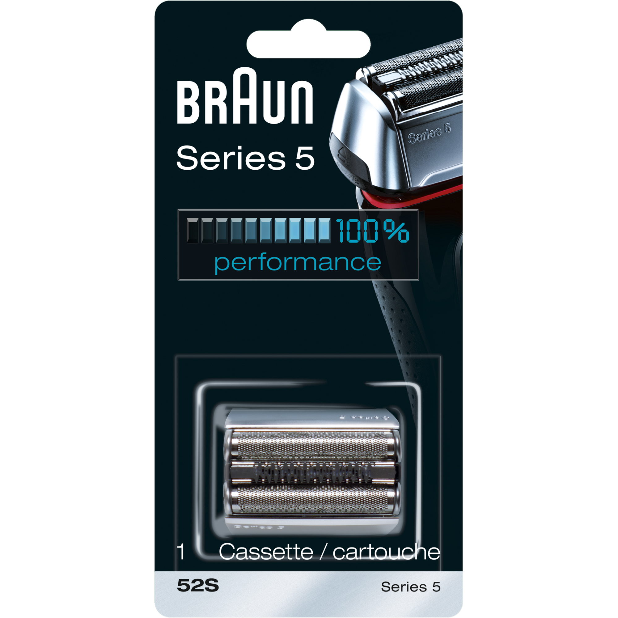 Braun Shaver Replacement Part 52 S Silver - Compatible with Series 5 shavers