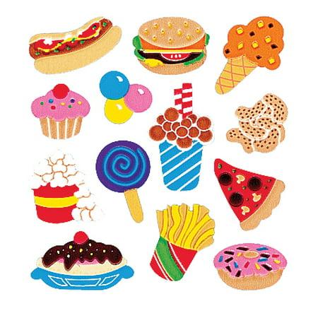 SandyLion Classpak Stickers 3/Pkg-Junk Food (Sandylion Chipboard)