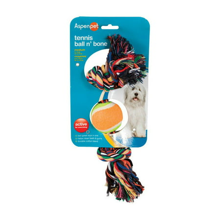 Aspen Balls (Aspen Pet 50813 Booda Rope Bone and Ball Dog Toy )