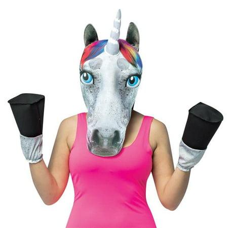 Unicorn Head with Hooves Costume](Satyr Costume Hooves)