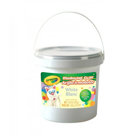 Hydroton Clay Pellets - Crayola Modeling Clay Bucket, Modeling Clay For Kids, 15 Oz., White