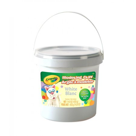 Harden Modeling Clay - Crayola Modeling Clay Bucket, Modeling Clay For Kids, 15 Oz., White